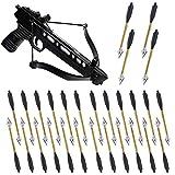 YAMAXUN Mini Balestra Alluminio 6,3 Pollici, Frecce, Frecce per Balestra per Pistola 50 Libbre/80 Libbre, Tiro Bersaglio Precisione, Tiro con L'Arco da Caccia, Confezione da 48, Non Contiene Balestra