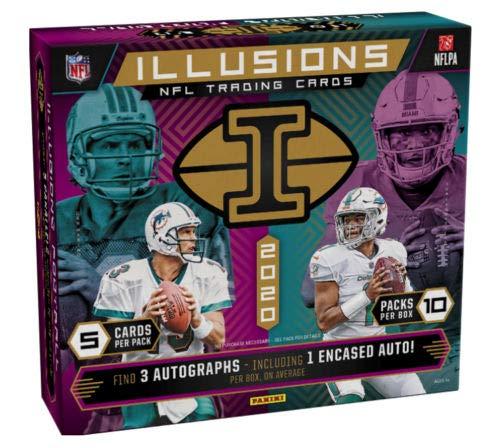 2020 Panini Illusions NFL Football HOBBY box (10 pks/bx)
