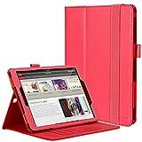 Hülle für Samsung Galaxy Tab S2 9.7, Flip Tasche Schutzhülle für Galaxy Tab S2 9.7,mit Auto Sleep Wake up/Standfunktion,Brieftasche Schutzhülle Leder Hüllen für Samsung Galaxy S2/Galaxy case-Rot