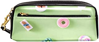 EGGDIOQ Leather Pencil Pen Bag Case Large Capacity with Lollipop Ice Cream Ideal for School/College/Uni.- Make up Bag