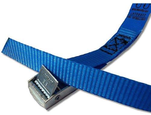 iapyx 4X Befestigungsriemen ideal zur Befestigung am Fahrradträger, Klemschloss Gurte, Spanngurte, Farbe blau