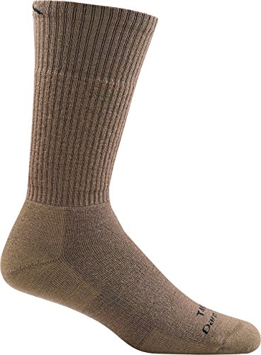 DARN TOUGH (Style T4022) Midweight w/ Full Cushion Boot Tactical Sock - Coyote Brown, Large