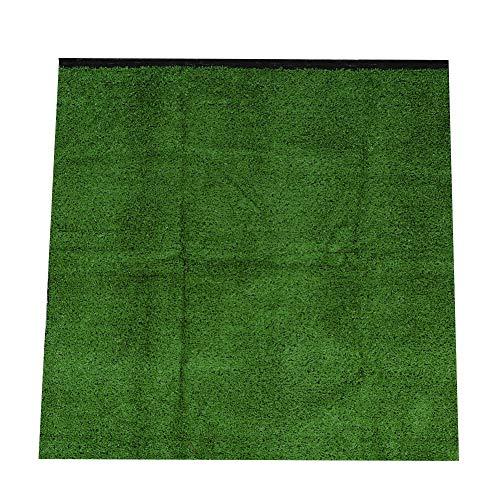 Samfox Césped Artificial, césped de simulación Gruesa de 10 mm, césped Artificial, césped, Alfombra, jardín, Paisaje(Verde Militar)