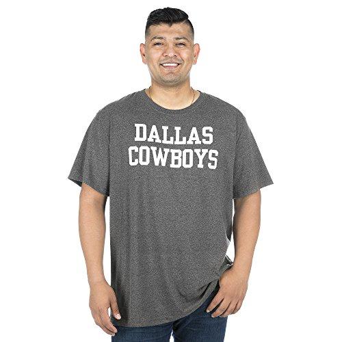NFL Dallas Cowboys Mens Coaches Short Sleeve Tee, Charcoal Gray, 3XL