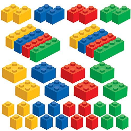 Brick Builders Blocks Wandtattoo-Set, 20 Blöcke in 4 Farben, entfernbar, wiederverwendbar, neu positionierbar Small mehrfarbig