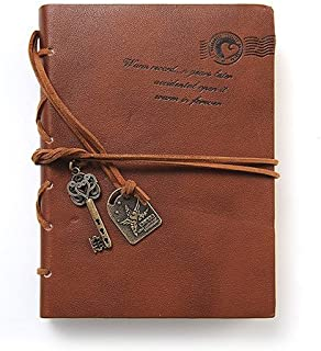 Diversity Land Vintage Magic Key String Retro Leather Note Book Diary Journal Classic Leather Bound Notebook