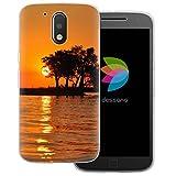 dessana Afrika Coque de protection en silicone TPU transparent pour Motorola Moto G4 Plus Motif...