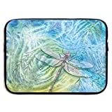 Waterproof Laptop Sleeve 15 Inch, Dragonfly Painting Business Briefcase Protective Bag, Computer Case Cover for Ultrabook, MacBook Pro, MacBook Air, Asus, Samsung, Sony, Notebook