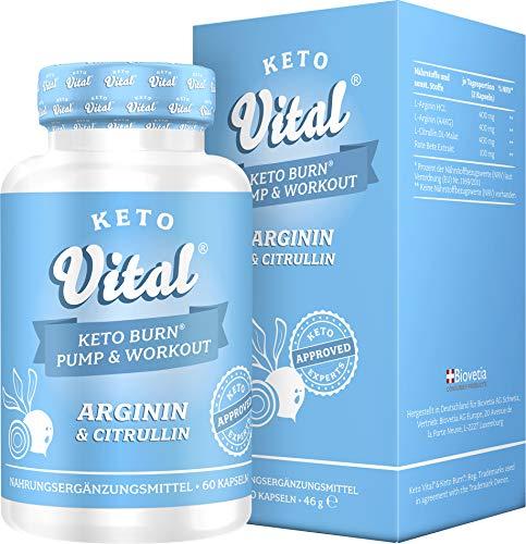 Keto Vital Keto Burn® Pump & Workout Arginin + Citrullin, 60 Kapseln