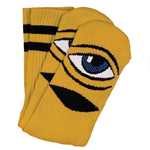 Toy Machine Skateboard-Socken Sect Eye Senf
