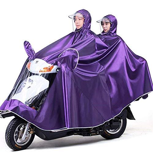 ZXL Regenjas Elektrische fiets Regenjas, Oxford Doek Draagbare Waterdichte Hoed Dik Rijden Dubbele Poncho Voor Outdoor Wandelen Camping Unisex,Bluesingle Regenkleding (Kleur: Blauw, Maat : Tweepersoons)