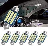 SanGlory 6pcs LED Ampoules C5W 36mm Canbus Anti Erreur LED Festone Blanc 6000K, 30 x 3014 SMD LED Ampoules Voiture 12V pour Plafonnier, Eclairage Intérieur, Plaque et Coffre (36mm)