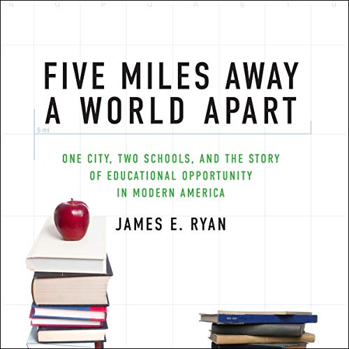Five Miles Away, a World Apart audiobook cover art