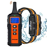 IOKHEIRA Dog Training Collar with Remote for Large Dogs Waterproof Dog Shock Collar Rechargeable with Shock Beep Vibration Modes and up to 1800Ft Range for Small Medium Large Dogs
