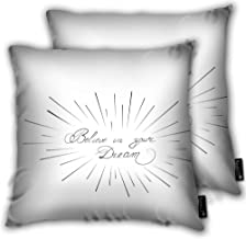 avbvoxy Set of 2 Decorative Throw Pillow Case La Dolce Vita Translated from Italian The Sweet Life White Cushion Cover Square 18 X 18 Inches