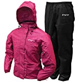 Frogg Toggs All Purpose Rain Suit, Women's, Cherry / Black, Medium