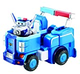 Super Wings - Paul's Police Cruiser | Transforming Toy Vehicle Set | Includes Transform-a-Bot Paul Figure | 2' Scale
