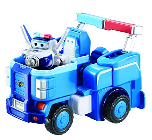 Super Wings - 7' Paul's Police Cruiser | Transforming Airplane Toy Vehicle Set | Includes 2' Transform-a-Bot Paul Figure | Fun Preschool Toy for 3 4 5 Year Old Boys and Girls | Birthday Gift for Kids