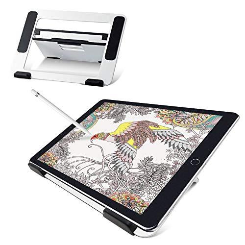 エレコム タブレットスタンド 液タブ 液晶ペンタブレット 9.7~12.9インチ対応 Wacom XP-Pen iPad 対応 角度調整可能 4アングル ホワイト iPad/iPad Pro/iPad Air/iPad mini/Surface/Kindl