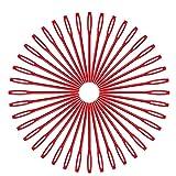 SHUAISHUAI 100 unids Bodkin Agujas de Costura Grande Oro Ojo Pines Bordado Tapicería Hand Herramientas Herramientas de Lana DIY Durable (Color : 2. Red)
