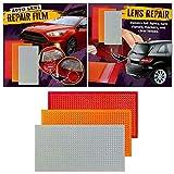 3 piezas/set de película de reparación de lente roja de alta resistencia, paquete múltiple de herramientas de reparación de luces traseras, para luces antiniebla traseras de automóviles