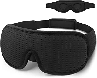 Sleeping Mask for Men Women, Cylomert 3D Eye Mask for Sleeping, Heavy Light Blocking Blindfold Concaved Model with Soft Co...