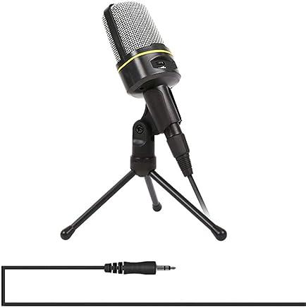 ZYG.GG PC Microfono, Jack da 3,5 mm Condensatore Registrazione Microfono con Mic Stand per PC, Il Computer Portatile, Mac, Smartphone - Gaming, Cantando, Youtube, Skype - Trova i prezzi più bassi