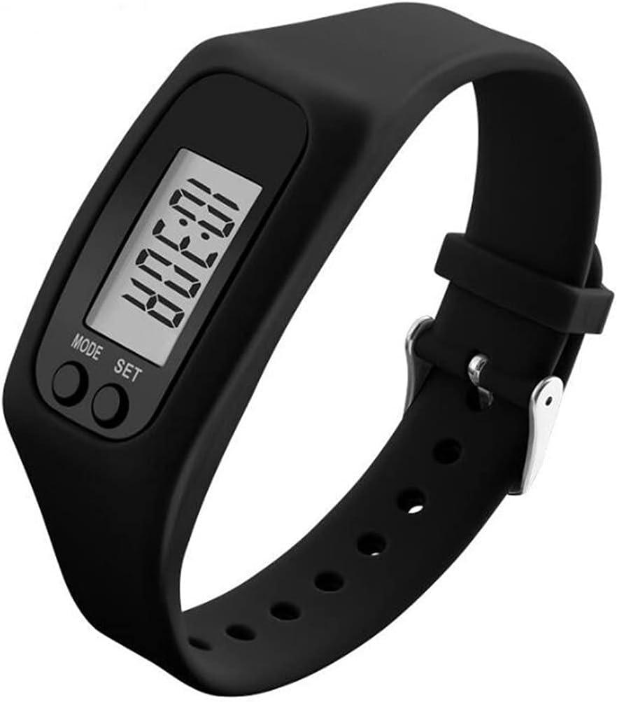 FormVan Fitness Tracker Pedometer Watch for Walking Running Step Calorie Counter for Men Women Kids, Black : Sports & Outdoors