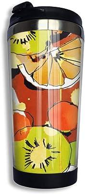 Fruit Watercolor マグカップ コーヒーマグ タンブラー ふた付き 直飲み 軽量 密封 おしゃれ 旅行用 携帯便利 通勤 通学 ロゴ コーヒーカップ ステンレス製 水が漏れない 安全 おしゃれ 保熱 ウォーターカップ クリスマス プレゼントCliff Effiea
