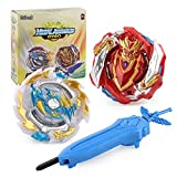 Battling Game Tops Metal Fusion Starter Set   Launcher Included   2Set - Cho-Z Achilles.00DM/Ace Dragon. St. Ch with 4D Launcher Grip Gyro Top Set