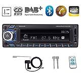 Bosszi HiFi-Klangqualität RDS/DAB/DAB + Autoradio Digital Audio Autoradio mit Bluetooth Freisprechfunktion/BT+USB+TF Karte+AUX Wiedergabe, FM/AM Radio 1 DIN 12V mit DAB +...