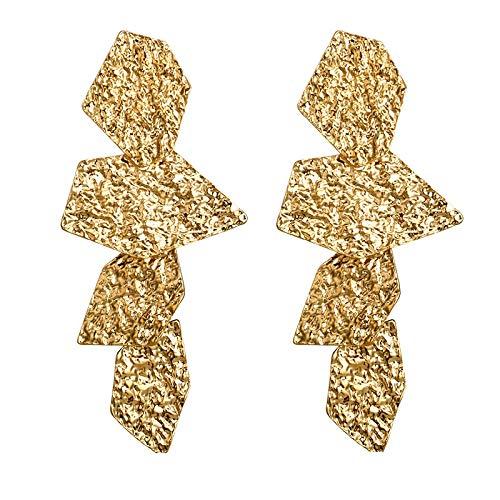 Pendientes de clip de metal de color sobre los pendientes no perforados 2019 para mujer, declaración de fiesta, joyas de clip de oreja, accesorios