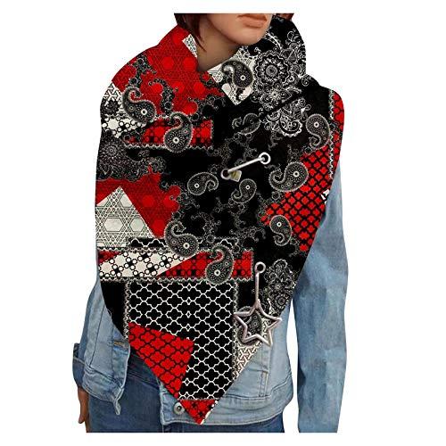 RUDOSE Damen Poncho Winter Herbst und Winter Kaschmir Schal Weiblich Dreieck Handtuch Warm halten Damen Schals armband groß rechteckig Spitz Halstuch Strick-Waren für Winter Zwillingsherz