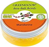 Greendoor Körper-Peeling Sea Salt Scrub Mandarine, Meer-Salz-Peeling ohne Mikroplastik,...
