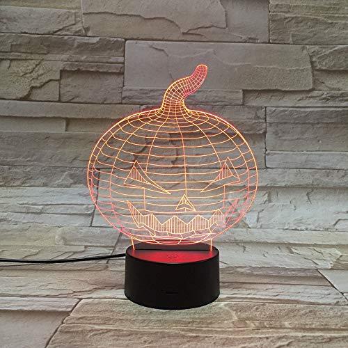 Halloween Ghost Festival Dekoration Requisiten Laterne Kürbis Nachtlicht LED Bunter Farbverlauf Touch 3D Visuelles Licht Touch Bunt 1000 oder mehr