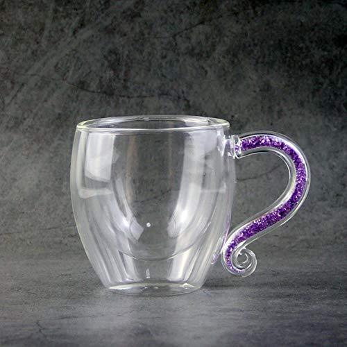 Taza De Café, Copa De Champán, Taza Taza De Café Taza De Cristal Taza Luxurys Taza De Té Botella De Agua Piedras De Diamantes Drinkware H1124, Púrpura
