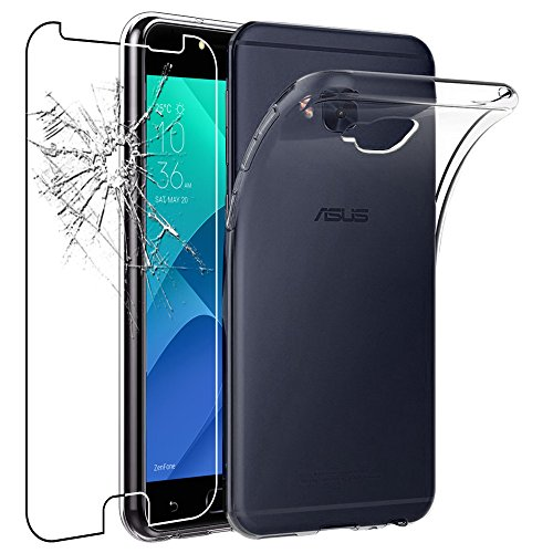 ebestStar - Asus Zenfone 4 Selfie Pro Hülle ZD552KL Handyhülle [Ultra Dünn], Durchsichtige Klar Flex Silikon Schutzhülle, Transparent + Panzerglas Schutzfolie [Phone: 154 x 74.8 x 6.9mm, 5.5'']