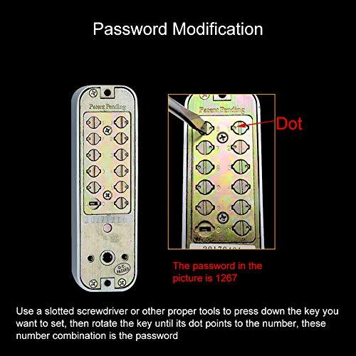 Digitaal mechanisch deurslot met wachtwoord, schuifdeur-wachtwoordslot 1-11 Digirt-deurvergrendeling voor keukenbalkon