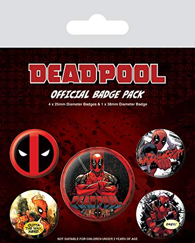 Pyramid International Deadpool Pack Badge, Multi-Colour, 10 x 12.5 x 1.3 cm