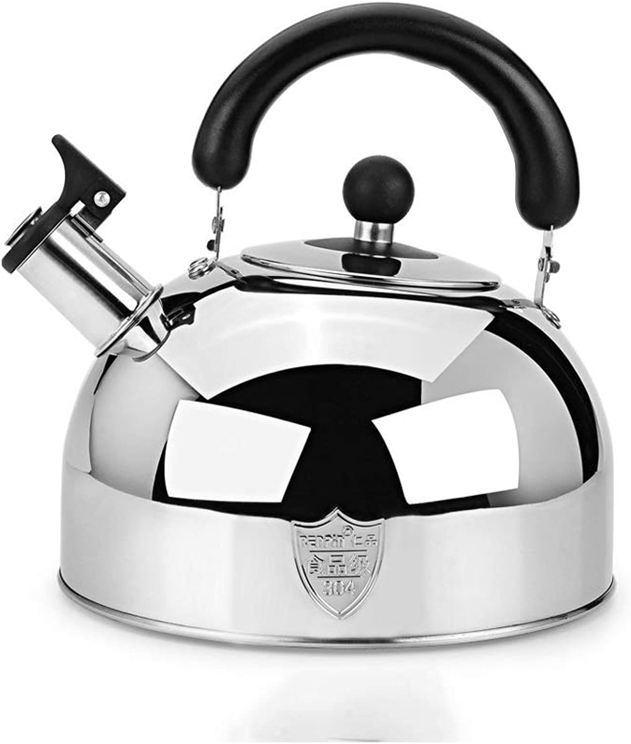 Tongboshi Kettle, 304 Stainless Steel Whistle Home Induction Cooker Large Capacity 5L Kettle, Gas Gas Universal, Silver