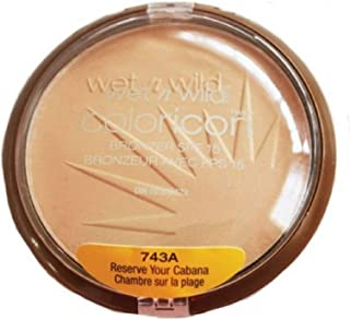 Wet n Wild Color Icon Bronzer with SPF 15, Reserve Your Cabana [743A] 0.46 oz ( Pack of 3 )