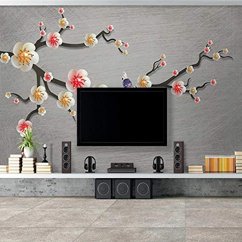 Msrahves Fotomural Vinilo de Pared Estilo chino flores pájaros joyas. Fotomural Vinilo de Pared para Paredes Decoración Hogar Pared Fotomurales ParedFotomural Decorativo Vinilo Decorativo