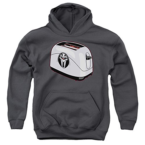 Battlestar Galactica Jugend-Toaster Pullover Hoodie, X-Large, Charcoal
