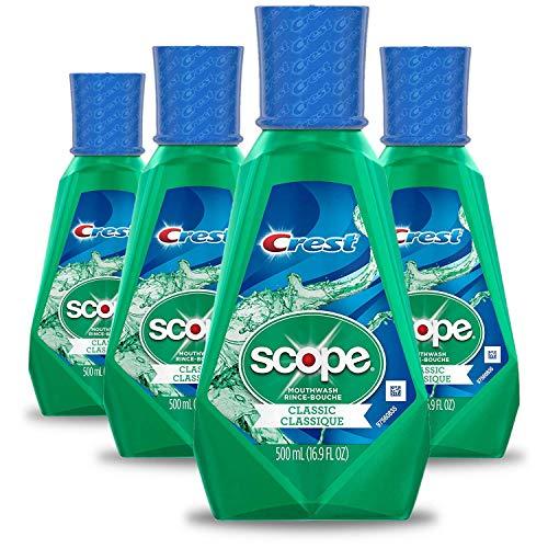 Crest Scope Classic Mouthwash, Original Formula, 16.9 fl oz. (Pack of 4)