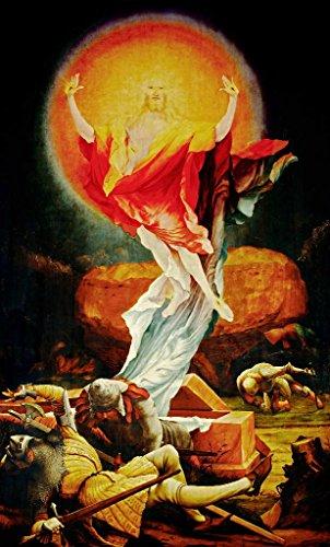 Kunstdruck/Poster: Mathis Gothart Grünewald Auferstehung Christi - hochwertiger Druck, Bild, Kunstposter, 45x75 cm