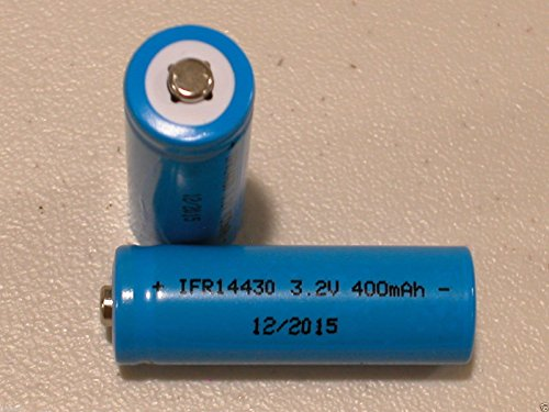 TopOne 1 PC 14430 3 2V LiFePO4 Rechargeable Battery 400mAh Solar Lights Button Top Blue