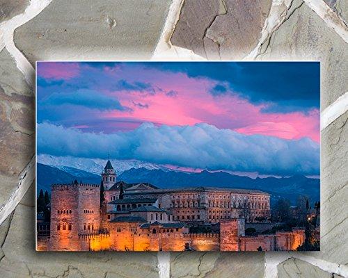 Wayshop | Cuadro Granada | Material PVC Forex 5 MM | Medidas 50cm x 40cm | Fácil colocación | Diseño Elegante | Impresión Digital Multicolor (1 Unidad)