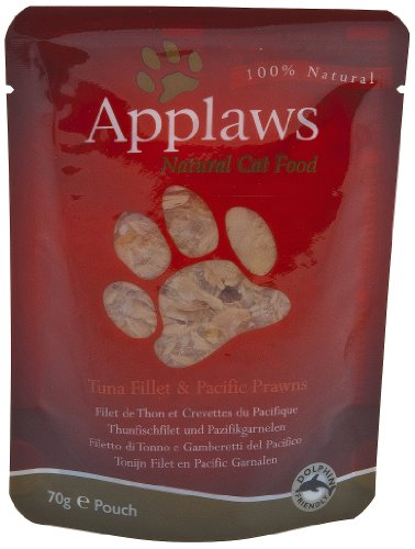 Applaws Cat Super Premium Pouchbeutel 70g Thunfischfilet & Pazifikgarnelen