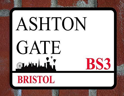 LBS4ALL BRISTOL CITY ASHTON GATE Metal Sign FOOTBALL STREET Man cave Wall Plaque