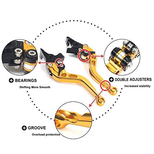 TARAZON CNC Bremshebel Kupplungshebel Set Verstellbar passende GSXR750 GSX-R 750 1996-2003/TL1000 1997-2001/GSXR1000 GSX-R 1000 2001-2004